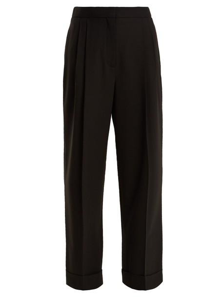 The Row high wool black pants