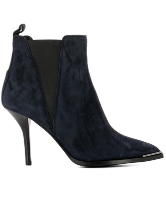 boots ankle boots blue suede shoes