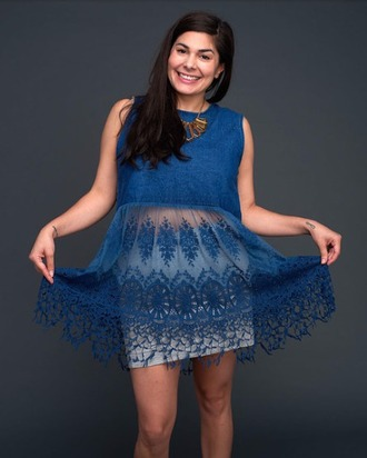 dress denim lace shirt
