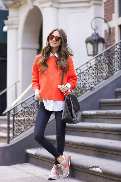 something navy blogger jeans sweater shoes bag sunglasses jewels