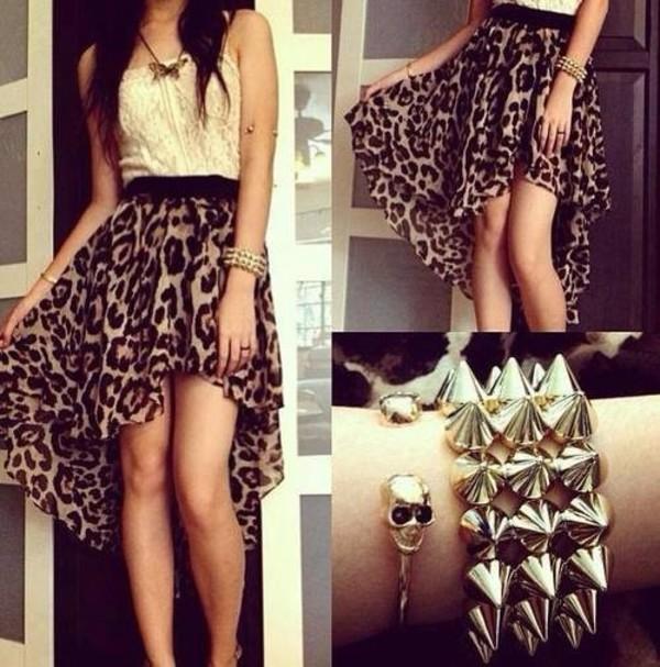 skirt leopard print