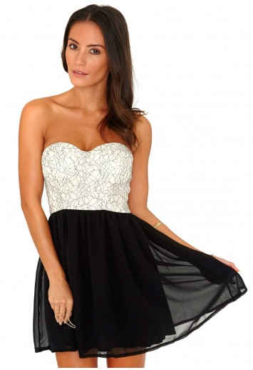 Liusy Lace Bustier Skater Dress - Skater Dress - Dresses - Missguided