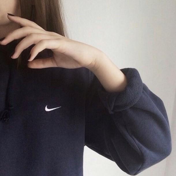 nike nike sweater sweater jacket black hoodie jumper blouse white style tumblr tumblr outfit tumblr girl tumblr clothes tumblr shirt girl girly wishlist girly sportswear shirt