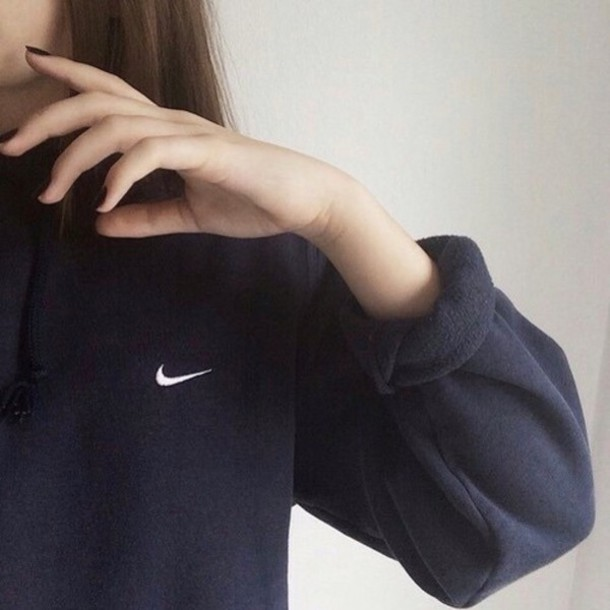 nike nike sweater sweater jacket black hoodie