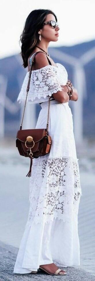 dress white two piece dress