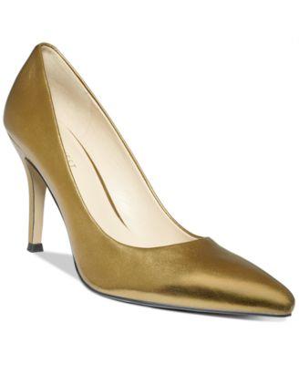 INC International Concepts Women's Piya Metallic Heel Pumps - Shoes - Macy's