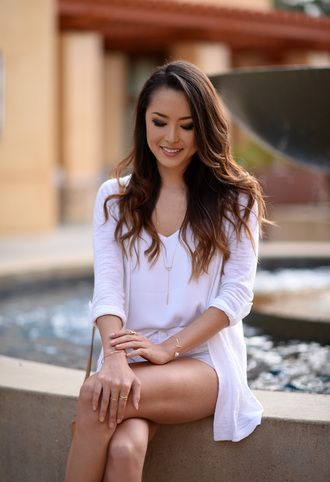 jessica r. hapa time - a california fashion blog by jessica blogger jewels cardigan shoes shorts jewelry necklace gold necklace