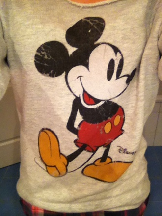 sweater disney mickey mouse pullover pull mickey gris grey