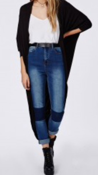 jeans blue jeans knee patch high waisted jeans