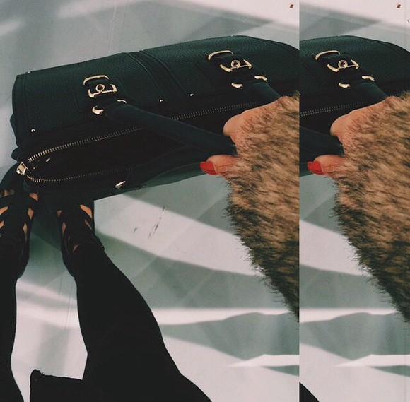 leather bag bag black