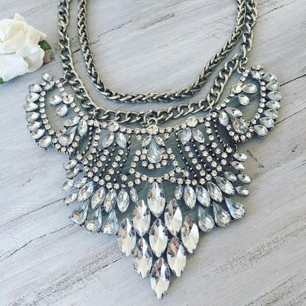 jewels cherry diva necklace statement necklace silver necklace chunky necklace large necklace big jewelry chunky jewelry costume jewlery fashion jewelry fashion jewellery