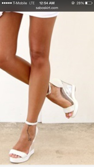 shoes adorable white transparent wedges clear wedges transparent shoes