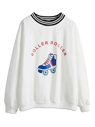 sweater crewneck white