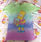 shirt,the simpsons,bart simpson,t-shirt,drugs,lsd,color/pattern,cigar,hoodie,sweats