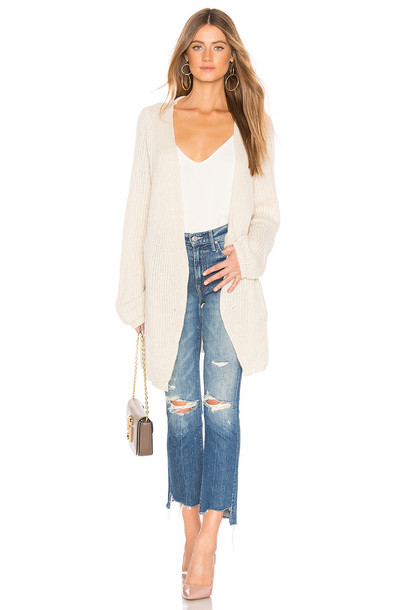 Lovers + Friends Ribbed Cardigan in cream