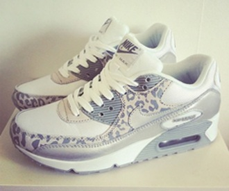 shoes pattern white grey nike air max leopard print trainers nike free run running sportswear athletic