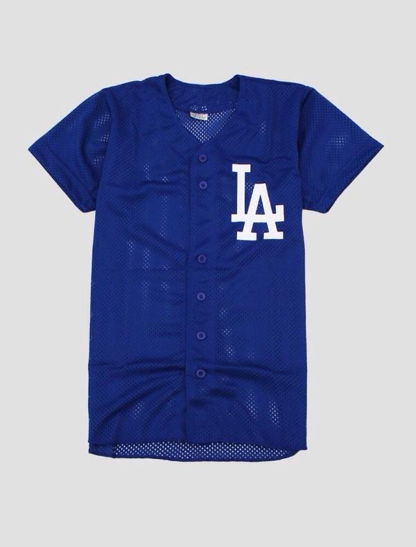 shirt la dodgers menswear baseball jersey menswear