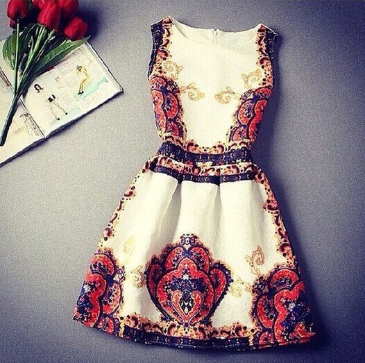Elegant fashion flower dress fashion sleeveless vest skirt xf1201d