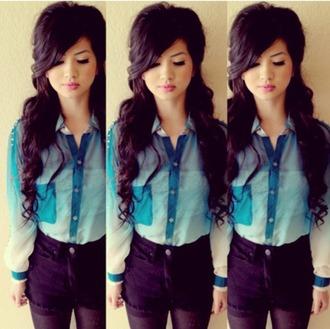 shirt ombre blue shirt dress