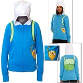 sweater,colorful,celebrity,adventure time,cool,finn,jake,blue,white,green