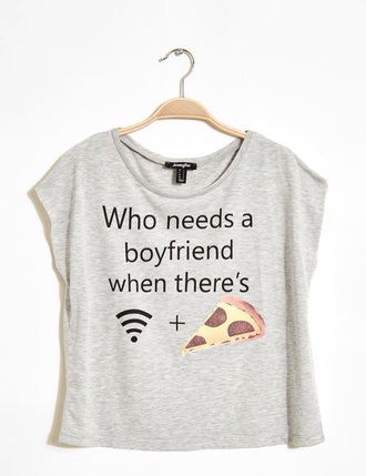 blouse pizza grey t-shirt funny shirt pizza shirt