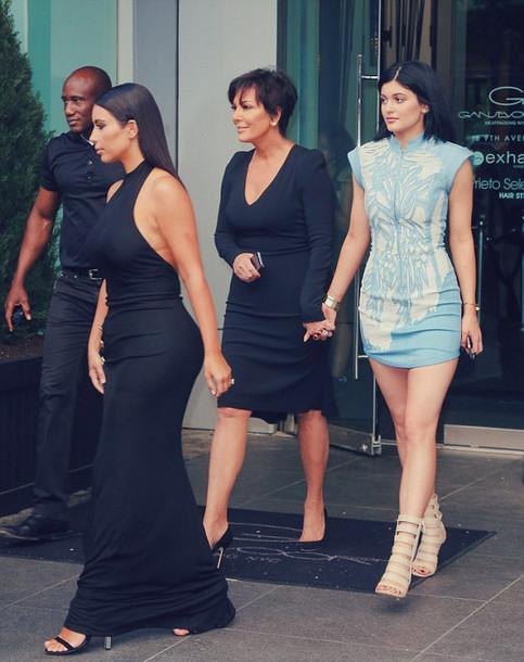 dress kylie jenner light blue kim kardashian long dress maxi dress