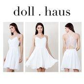 dress,white dress,lace,sleeveless,sleeveless dress,pretty,delicate,trendy,shopdollhaus,sweetheart neckline,sweetheart dress