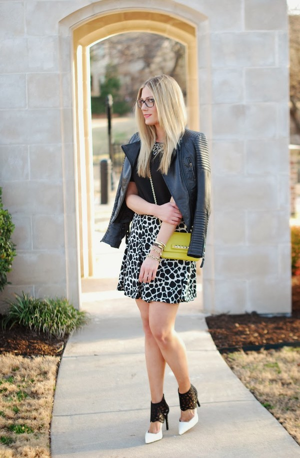 devon rachel t-shirt skirt jacket shoes bag jewels