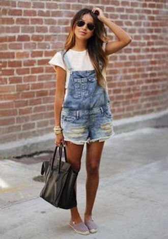romper overall shorts overalls distressed