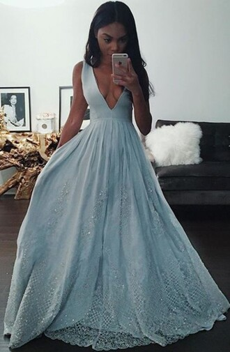 dress sexy homecoming dress plunge v neck glamorous homecoming dress floor length dress