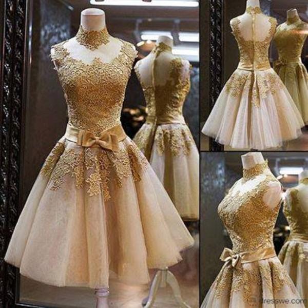 dress gold gold dress girl party
