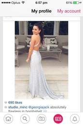 dress,silver,prom dress,formal,formal dress,sequins,sparkle,sparkly dress,sequin dress,weheartit