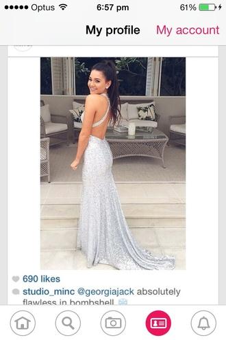 dress prom dress sparkly sequins sequin dress silver formal formal dress sparkly dress