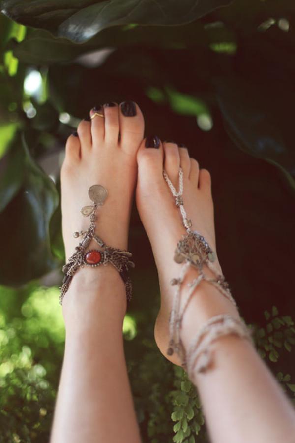 jewels anklet chaine bijoux pied
