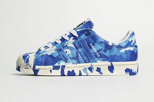 9a72a10c09 Adidas Superstar Blue Camo Custom Runing Shoes