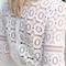 Chic element white circle lace long sleeve crew neck blouse top