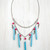 Turquoise & red necklace - Pop Sick Vintage
