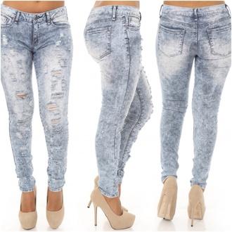 pants plus size pants curvy acid wash