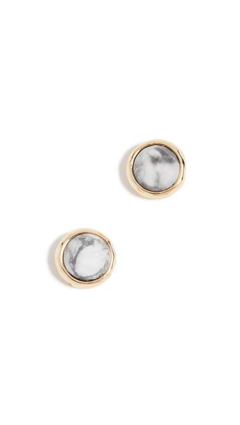 Gorjana Power Gemstone Stud Earrings in gold