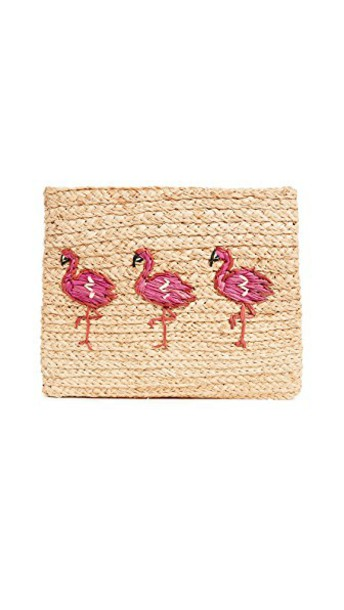 Hat Attack clutch flamingo bag