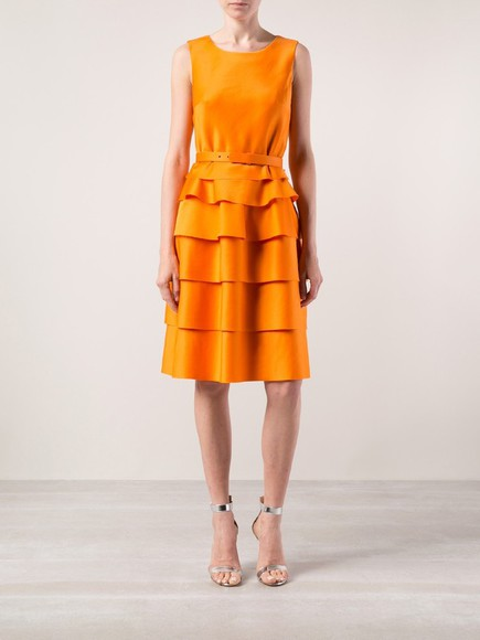 orange dress oscar de la renta OSCAR DE LA RENTA DRESS little black dress