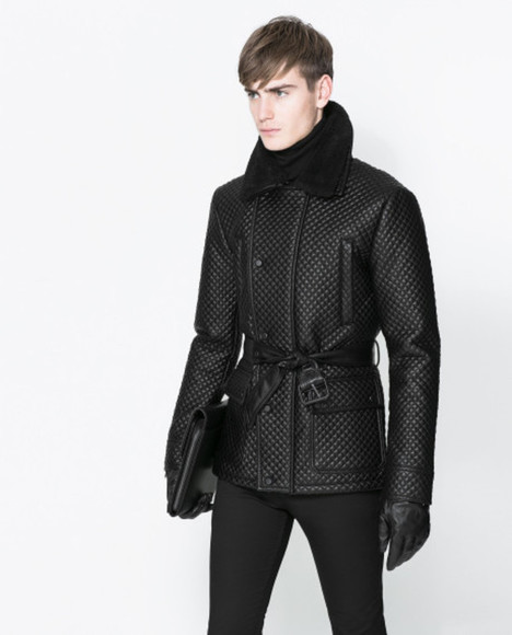 zara zara coat quilted 3/4 coat zara quilted coat 3/4 length