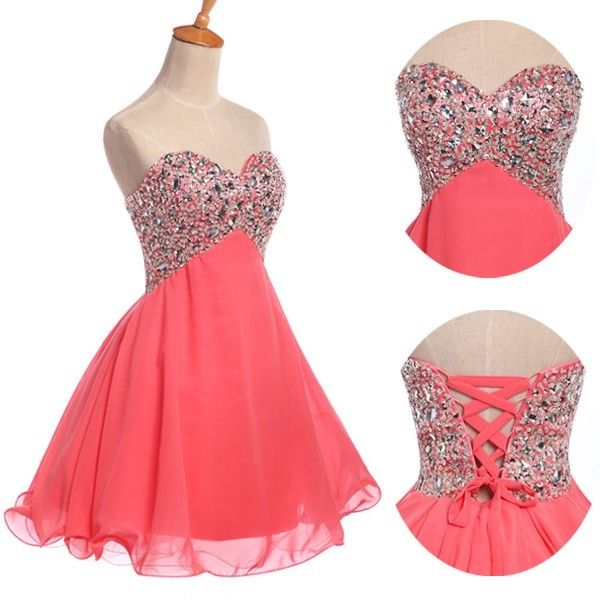 Beaded Strapless Homecoming Prom Ball Gown Cocktail Short Party Evening Dress | eBay