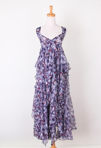 Good to be blossoms maxi silk dress