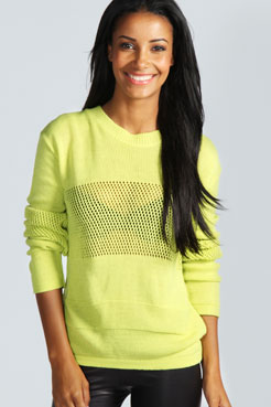 Lizzie Aerated Sports Jumper at boohoo.com