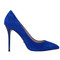 4 inch heels - blue suede high heel pumps
