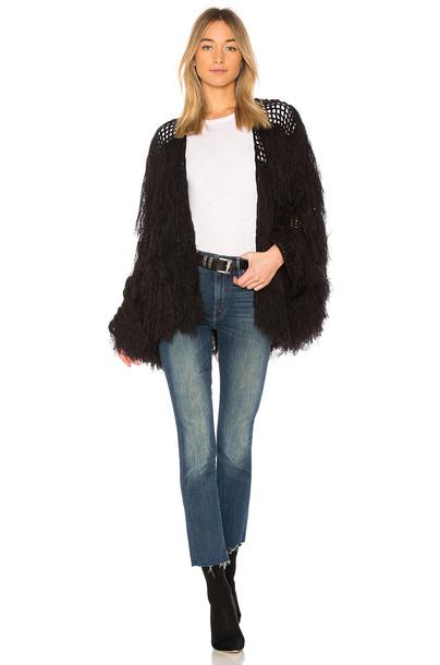 Chaser cardigan cardigan tassel black sweater