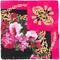 Dolce & gabbana floral chain scarf, women's, pink/purple, silk