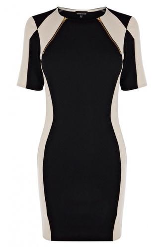 dress black white bodycon bodycon dress zip long sleeves black bodycon underwear