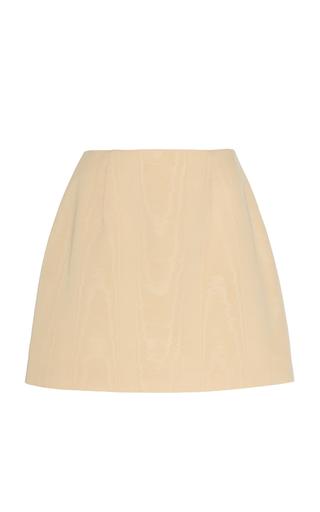 West Moire Silk Mini Skirt by Markarian   Moda Operandi
